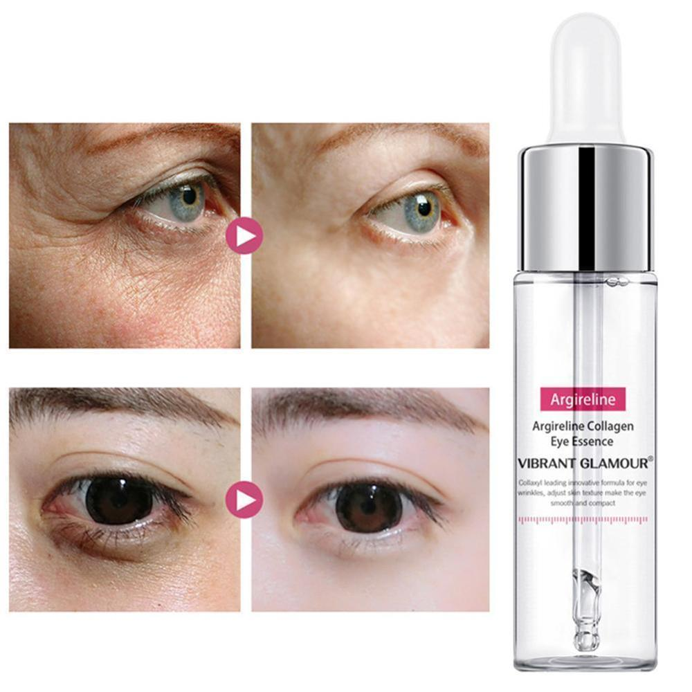 VIBRANT GLAMOUR Argireline Collagen Eye Serum Anti-Wrinkle Remover Dark Circles Eye Against Puffiness And Bags Eye Care