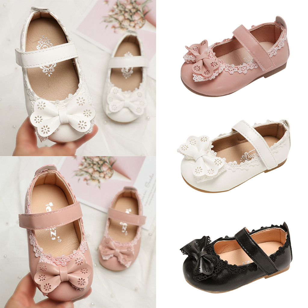 Toddler Infant Kids Baby Girls BowKnot Comfortable Single Sweet Princess Shoes Sandals Toddler Baby Soft Breathable Bow Shoes