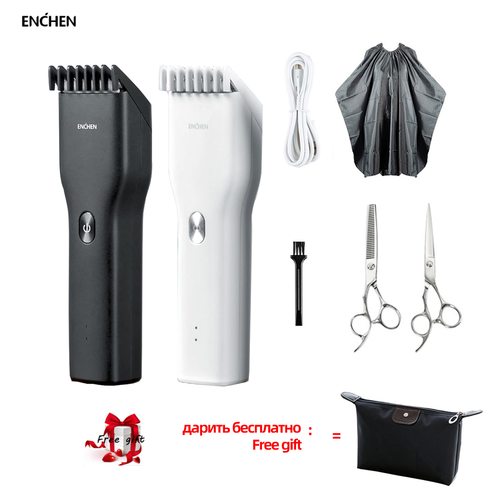 ENCHEN Hair Trimmer Hairdresser Men Kids Cordless USB Rechargeable Electric Hair Clipper Cut Razor Cutter Machine  Comb