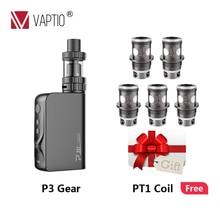 Gift 100W Vape Kit Vaptio P3 Gear electronic cigarette 3000mAh Starter kit with built in battery 2.0ml capacity 510 thread Tank все цены