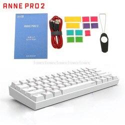 Anne Pro2 60% Bluetooth 4.0 Type-C RGB 61 Keys Mechanical Gaming Keyboard Cherry Switch Gateron Switch
