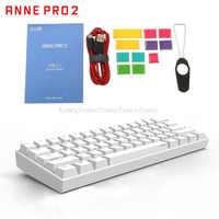 Anne Pro2 60% Bluetooth 4.0 type-c RGB 61 touches clavier de jeu mécanique commutateur cerise commutateur Gateron