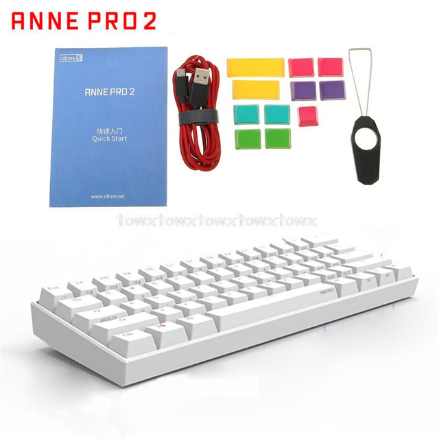 Anne Pro2 60% Bluetooth 4.0 type c RGB 61 touches clavier de jeu mécanique commutateur cerise commutateur Gateron