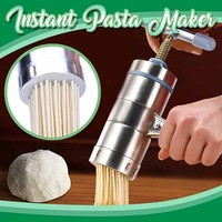 Stainless Steel Express Pasta Noodle Maker Fruit Press Spaghetti Kitchen Machine Dropshipping Winter 2020 decoration Accessories|Manual Noodle Makers|   -