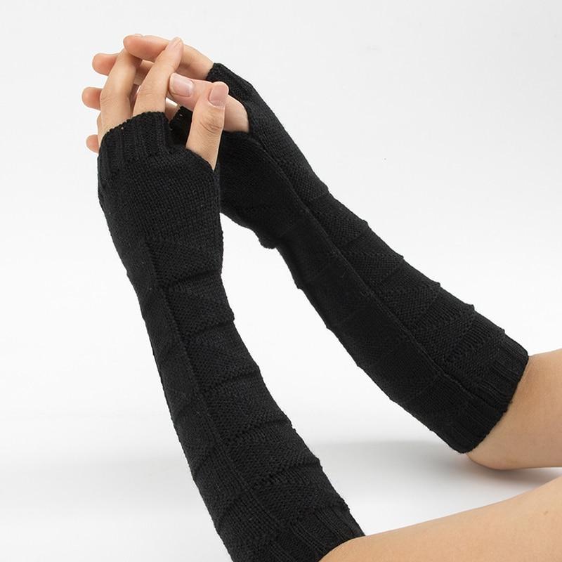 New Arrival Female Gloves Causal Women's Gloves Twist Fingerless Gloves Winter Arm Warmer Long Knit Mitten For Women Handschoen