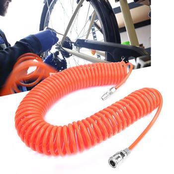 цена на Air Compressor PU Air Hose Pneumatic Telescopic Spring Tube PP20+SP20 Quick Connector flexible tubes High Quality