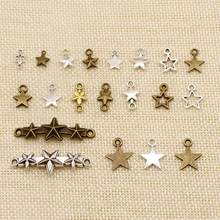 1 Piece Metal Charms For Jewelry Making Hollow Five-Pointed Star Connection HJ210(China)