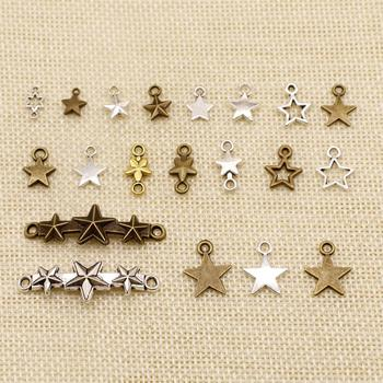 1 Piece Metal Charms For Jewelry Making Hollow Five-Pointed Star Connection HJ210 image