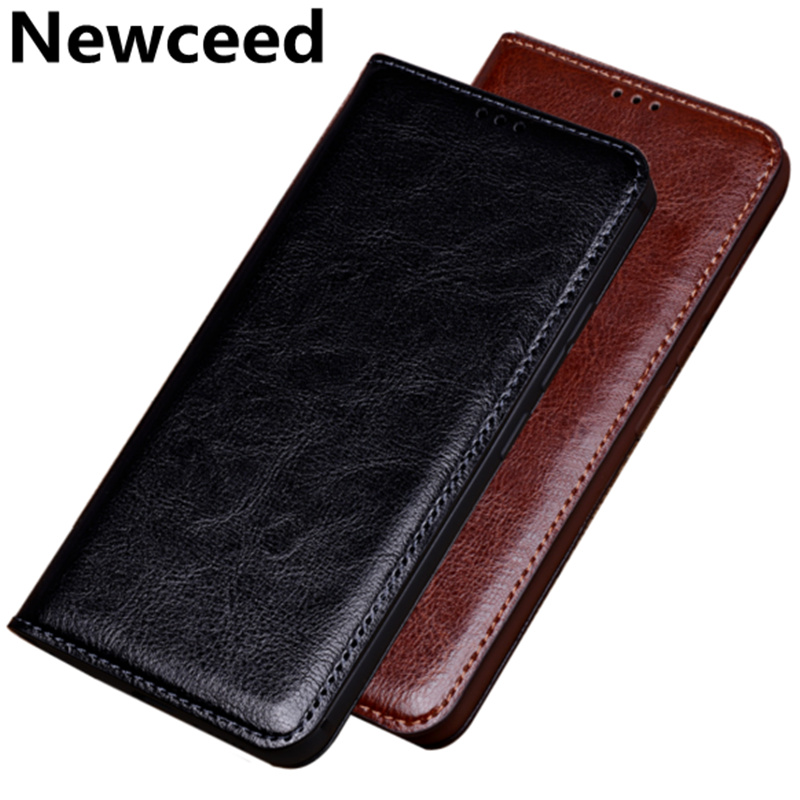 Business Retro vintage crazy horse genuine leather cover phone cases for Samsung Galaxy J8 2018/Samsung Galaxy J6 2018 phone bag
