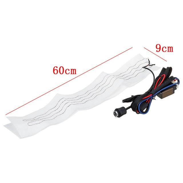 6 vitesses interrupteur rond universel flocage tissu voiture volant chauffage Kits voiture coussins chauffants 60x9cm