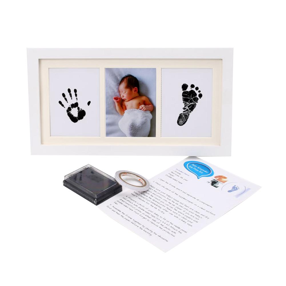 Newborn Baby Hand And Foot Inkpad Photo Frame Hand And Foot Print Souvenir Baby Birthday Gift Commemoration