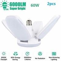 2pcs 60W E27 LED Bulb Lamp Ceiling Lights Super Bright Adjustable LED Lamp for Living Room Bedroom Garage Light Dropshipping
