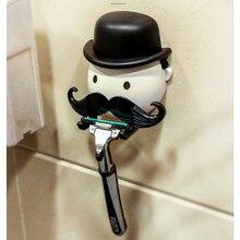 Wall Mount Toothbrush Holder Bathroom Organizer Razor Storage Box