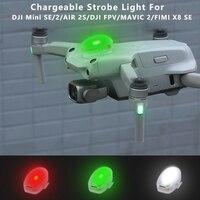 Drone Strobe Lichter Anti-Kollision Aufladbare Nacht Lampe Licht für DJI Mini 2 /Mavic MINI SE/2/AIR 2S/DJI FPV/MAVIC 2/FIMI X8 SE