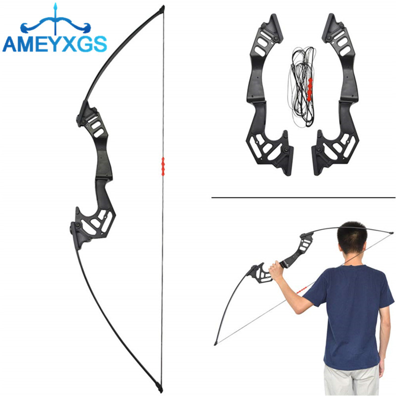 """53"""" Archery Straight Bow Takedown Recurve Bow 35lbs Hunting Bow With 6pcs SP 500 Carbon Arrow For Shooting Hunting Accessories"""