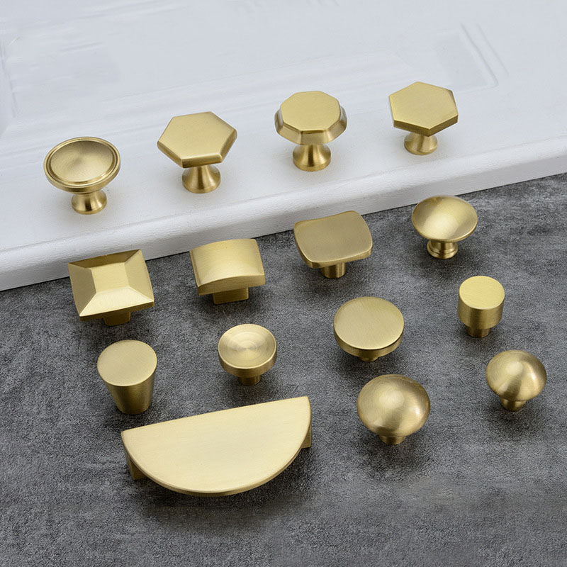 Gold Knob and handles for cabinet Brass Drawer Knobs Kitchen Cabinet Handle Furniture Accessory Hardware
