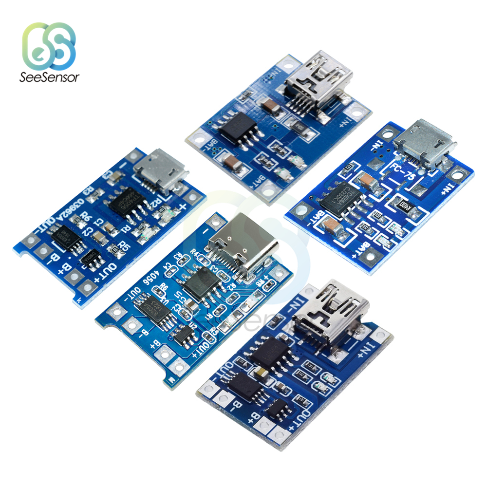 TP4056 Mini USB 5V 1A Li-ion Battery Charging Board Charger Module 18650 Lithium