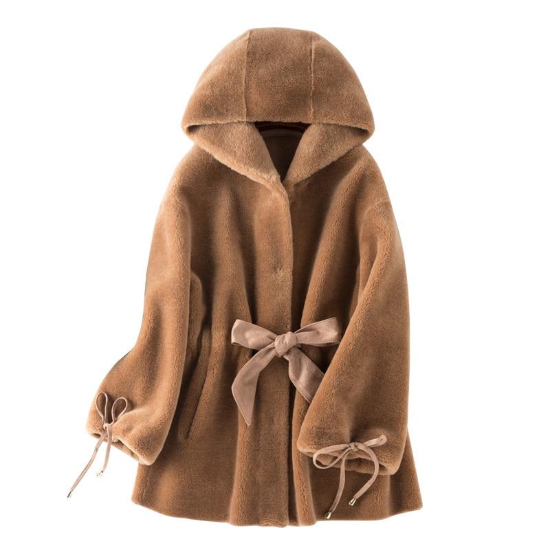 Женское пальто из натурального меха, шерстяная куртка на осень и зиму, женская одежда 2020, винтажные корейские кофты из овчины с замшевой подкладкой ZT3984|Шубы и дубленки|   | АлиЭкспресс