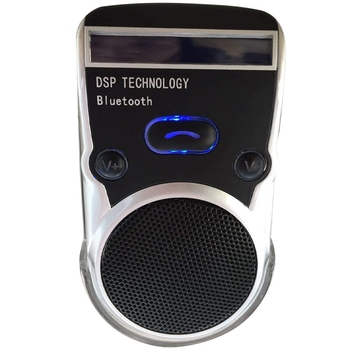 Bluetooth Hand-Free Car Phone Speaker with Caller Number Display Built-In Mic Safe Driving Two Phones Connecting