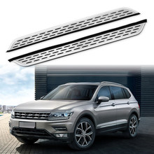 2Pcs Fit for VW- Tiguan 2017 2018 2019 2020 Stainless Steel Running Boards Door Side Step Nerf Bar Platform Protector(China)