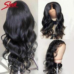 Гладкие бразильские Remy 13x4 кружевные передние человеческие волосы парики 30 дюймов 180% плотность объемная волна предварительно выщипанные кр...