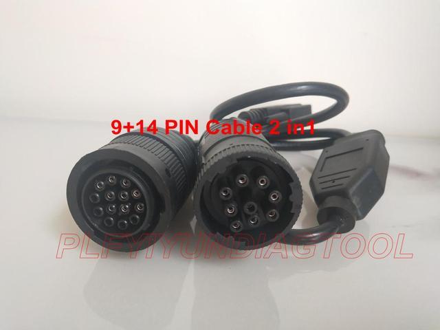 Диагностический инструмент для CAT ET3, диагностический инструмент 457 6114, 14 контактов, 9 контактов, кабель для ET3 317 7485 (457 6114)