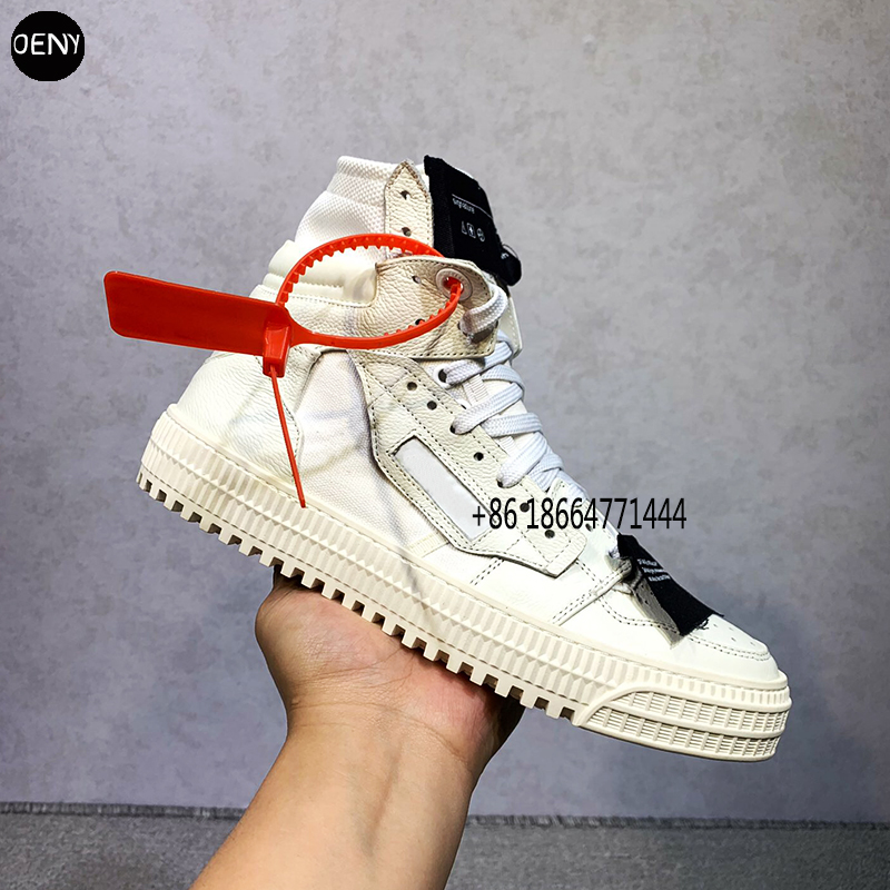 2020 Men High Top Sneakers Real Leather Unisex Couple Model WHITE Street Hip Hop Trend Sneakers  Arrow Sneakers