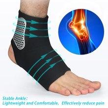 Supporto per caviglia proteggi tutore cinturino a compressione tendine Achille Brace distorsione proteggi fasciatura per piedi Running Sport Fitness Band nuovo
