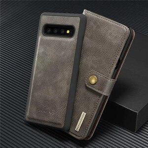 Image 2 - Caso di Cuoio di Vibrazione di lusso per Samsung Galaxy S20 Ultra S10 S9 S8 Più S7 Bordo di Carta Del Raccoglitore Della Copertura per Samsung nota 20 10 9 8 Coque