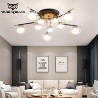 Nordic LED Ceiling Lamp for Dining Room Modern Creative Wooden Ceiling Light Lustre Metal Lampshade Ceiling Lamps Light Fixtures