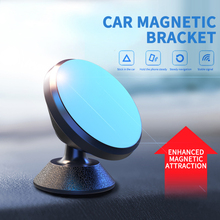 Magnetic Car Bracket 360 Degree Rotating Aluminum Alloy Bracket Car Mobile Phone Holder Bracket Mini Phone Holder Car Mounts