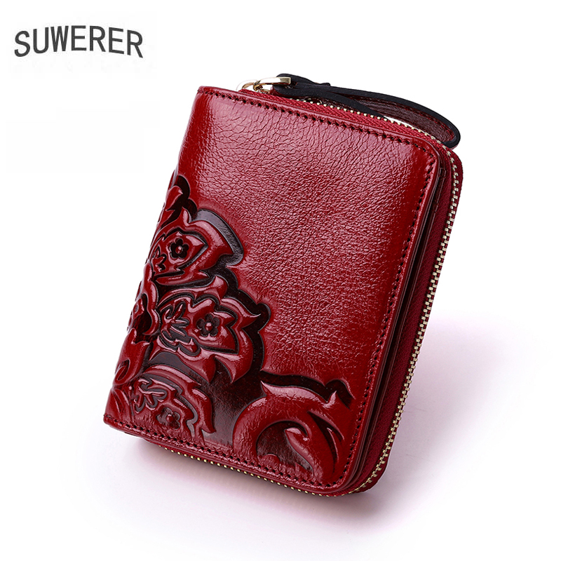 Genuine Leather Women wallet Multi-card bit clutch bag designer bag famous brand women bags 2020 new cowhide card bag multicolor image