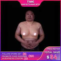 Suitable For 110KG Men Silicone Breast Forms For Shemale Trandsgender Crossdresser Drag Queen Imported Liquid Silicone Filler
