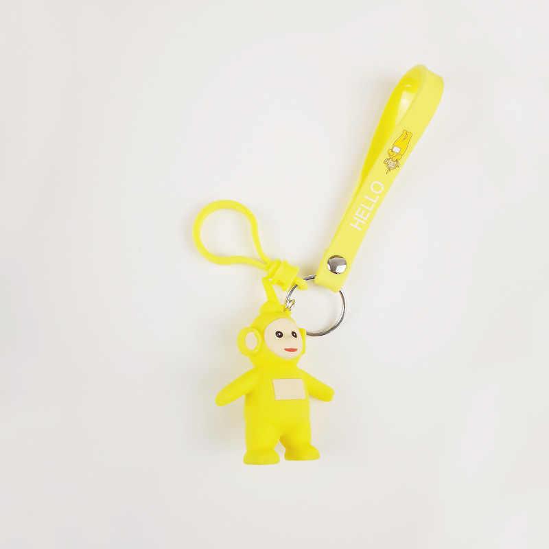 Mini chaveiro Saco Menina Dos Desenhos Animados Teletubbies crianças Brinquedo Figura de Ação pop Moda Criativa Presente de Natal Chaveiros Anel chave