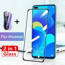 2 in 1 Full Cover Screen Protector For Huawei Honor V30 V20 8X 9X 9 10 lite 20i 10i Tempered Glass 9D Back Camera Lens on film 2 in 1 full cover 9d tempered glass for huawei honor 9x 9x pro 8x 8a 8c 8s v20 v30 10 20 10i 20i 10 20 lite screen protector