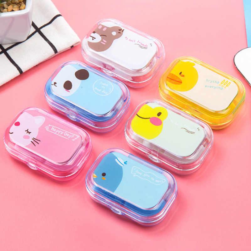 1PC cukierki kolorowe soczewki kontaktowe kolorowe soczewki kontaktowe do oczu kontakt soczewki Box przyssawka pinceta lustro Kit