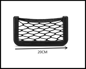 Universal Car Accessories Seat Cell Phone Debris Storage Mesh Bag for BMW Z4 E85 E89 i8 and i3 E39 E61 E60 E63 F07 F10 F11 M5 image