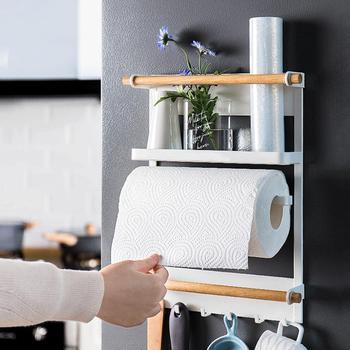 Multi-layer Folding Refrigerator Shelf Used In Home Rack Towel Rack Magnetic Hanging Rack Finishing Kitchen Storage Rack Sp M9N3