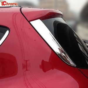 For Ford Escape Kuga 2 2013 2014 2015 2016 2017 2018 2019 Chrome Rear Window Spoiler Cover Trim Pillar Posts Molding Decoration(China)