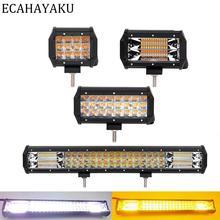"""ECAHAYAKU 4 """"36W 5"""" 72W 7 """"72W 20"""" 288W 자동차 LED 라이트 바 4000K 6000K 스트로브 오프로드 트럭에 대 한 깜박이 스타일 SUV 4x4 보트 12V"""