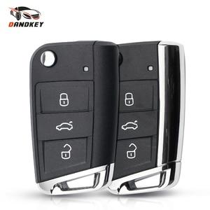 Dandkey Replacement Remote Key Shell Case For VW Volkswagen Golf MK7 Skoda Seat Passat Skoda Leon Octavia Car Styling 3 Buttons