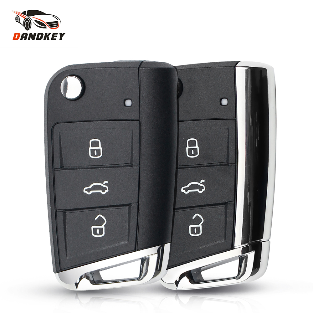 Dandkey Replacement <font><b>Remote</b></font> <font><b>Key</b></font> Shell Case For VW Volkswagen <font><b>Golf</b></font> MK7 Skoda Seat Passat Skoda Leon Octavia Car Styling 3 Buttons image