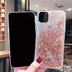 Image 5 - Para iPhone 11 pro max funda de teléfono con purpurina arena líquida arenas movedizas estrella funda de teléfono suave de silicona para Xs max X 6 7 8 Plus