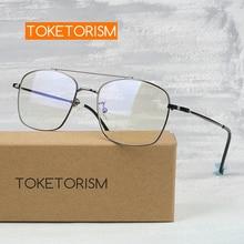 Toketorism vintage eye glasses frames for men myopia optical lens woman