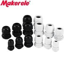 PG7 PG9 – connecteurs de câbles, Joints étanches en plastique Nylon, noir et blanc, IP68, 1 pièce, 5 pièces, 10 pièces