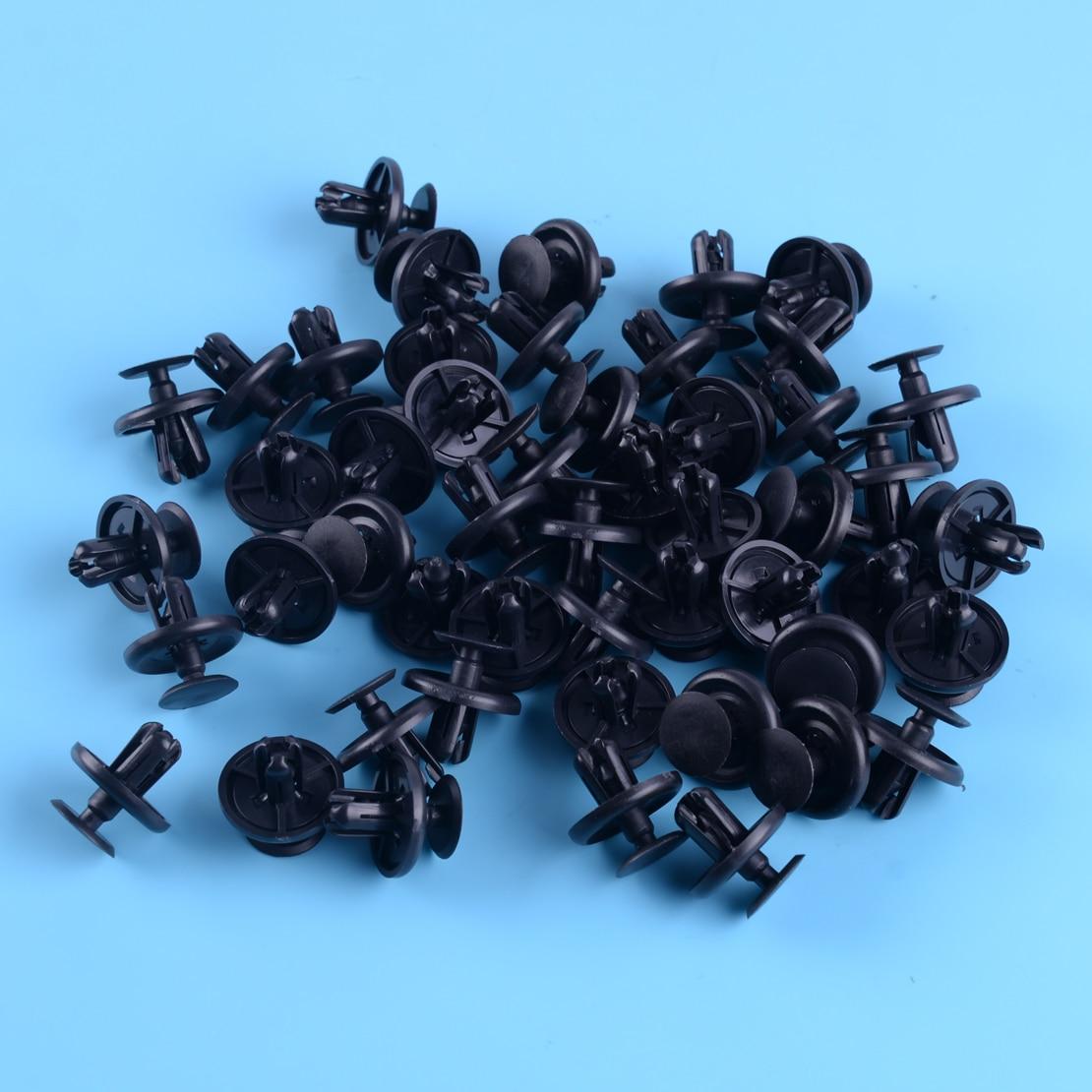 Engine Under Cover Push Type Retainer Clip For Toyota Lexus 90467-07201 Black