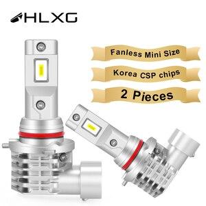 Image 1 - HLXG with Korea CSP chips H7 LED Bulb H4 Car Headlight Kit H11 H8 H9 Fog Lamp mini Headlamp Light 12V 9005 HB3 9006 HB4 LED H7