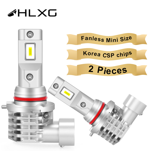 HLXG with Korea CSP chips H7 LED Bulb H4 Car Headlight Kit H11 H8 H9 Fog Lamp mini Headlamp Light 12V 9005 HB3 9006 HB4 LED H7