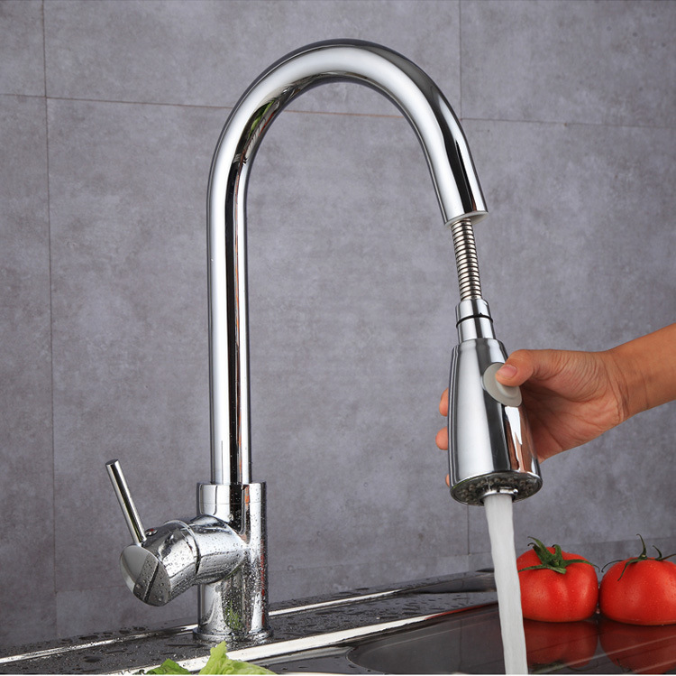 Kitchen faucet silver black single handle kitchen faucet single hole handle rotating 360 degree faucet