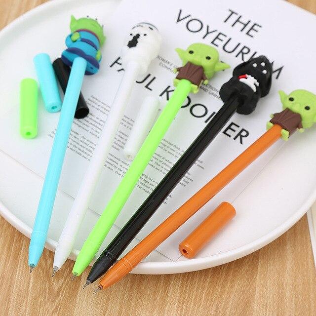 40 adet/grup yaratıcı siyah beyaz jel kalem sevimli öğrenci ofis kırtasiye okul su jel kalem siyah mürekkep imza kalem